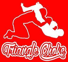 Triangle Choke Mixed Martial Arts White  by yin888