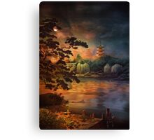Magic of Japanese gardens. Canvas Print