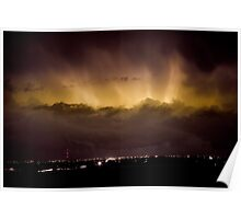 Lightning Cloud Burst Boulder County Colorado IM29 Poster