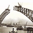 Sydney Harbour Bridge  c 1930  by Adrian Paul