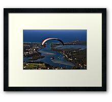 Paragliding to Harrington NSW Australia !!! Framed Print