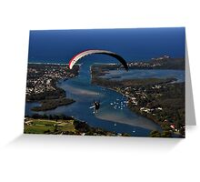 Paragliding to Harrington NSW Australia !!! Greeting Card