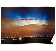 Lightning Thunder Head Cloud Burst Boulder County Colorado IM39 Poster