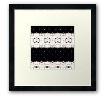 Midnight graphic pattern  Framed Print
