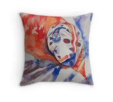 Vintage Goalie Mask - Grant Fuhr Throw Pillow