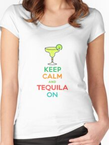 Keep Calm and Tequila On Women's Fitted Scoop T-Shirt