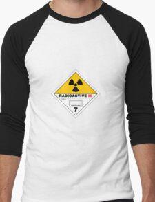 HAZMAT HAZARD RADIOACTIVE - STICKER Men's Baseball ¾ T-Shirt