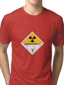 HAZMAT HAZARD RADIOACTIVE - STICKER Tri-blend T-Shirt