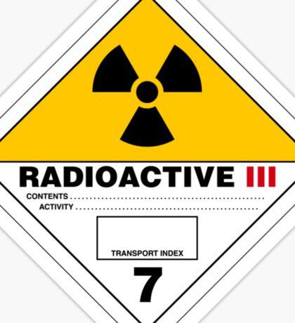 HAZMAT HAZARD RADIOACTIVE - STICKER Sticker