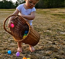 Adorable Easter bunny with basket by ashley hutchinson