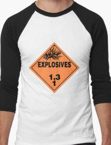 HAZMAT HAZARD EXPLOSIVES - STICKER Men's Baseball ¾ T-Shirt
