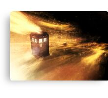 The Tardis in Flight Canvas Print