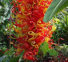 Blown Glass - Organge & Yellow by Karen L Ramsey