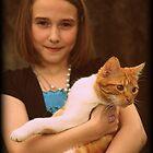 A Girl & Her Kitty by AngieBanta