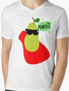 #Pearfect Mens V-Neck T-Shirt