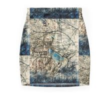 Blue Crane Mini Skirt