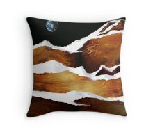 """Moon Over Planet X"" Throw Pillow"