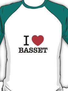 I Love BASSET T-Shirt