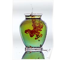 Colorful Water Moving in Vase Poster