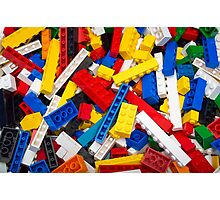 Heap of LEGO Blocks / Bricks Photographic Print