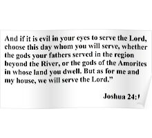 We will serve the Lord Poster