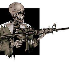 AR-15 Skeleton, Illustrator by Shane Highfill