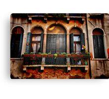 Venezian Windows Canvas Print