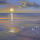 First seagulls of the day by Tash  Luedi Art