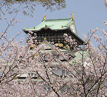 Osaka Castle, april 2011 by eshirin