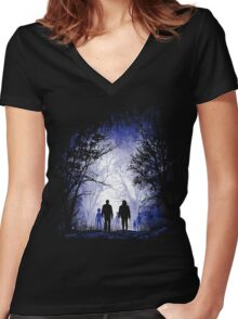 Dead End Women's Fitted V-Neck T-Shirt
