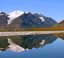 Ice cap reflections - Ellesmere Island by Phil McComiskey