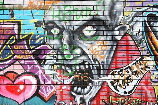 urban graffiti art by Medeu