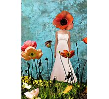 Lost in the poppy field Photographic Print