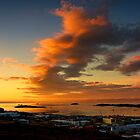 Sunset over Frobisher Bay - Iqaluit, Nunavut, Canada by Phil McComiskey