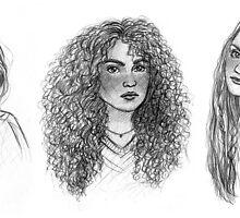 Ginny, Hermione & Luna by susannesart