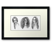 Ginny, Hermione & Luna Framed Print
