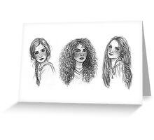 Ginny, Hermione & Luna Greeting Card