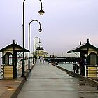 Rain on St Kilda Pier by Maureen Clark