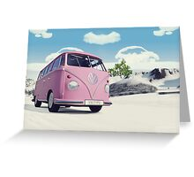VW Samba Greeting Card