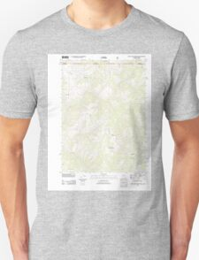 USGS Topo Map California High Plateau Mountain 20120323 TM T-Shirt