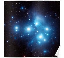 Pleiades Star Cluster Poster
