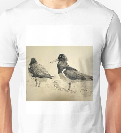 Pair of Pied Oystercatchers, Shoalhaven, NSW Unisex T-Shirt