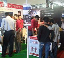 bizporto team busy at Global Maharashtra Conference and Trade Fair booth by bizporto