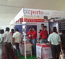 Busy booth of bizporto at Global Maharashtra Conference and Trade Fair by bizporto