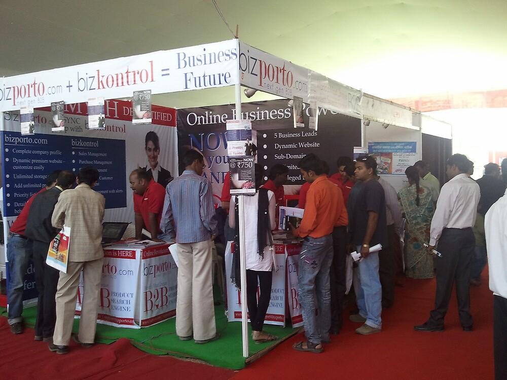 bizporto booth at Global Maharashtra Conference and Trade Fair by bizporto
