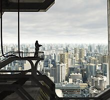 Guarding the Future City by algoldesigns