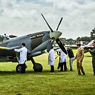 Mahandling a Spitfire while behind a Hurrican takes off.  by MarcW