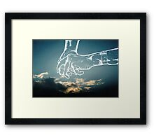 your hand in mine Framed Print