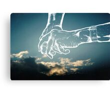 your hand in mine Canvas Print