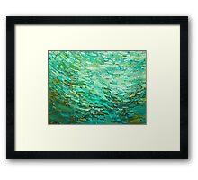 Gulf Waters Coastal Design Framed Print